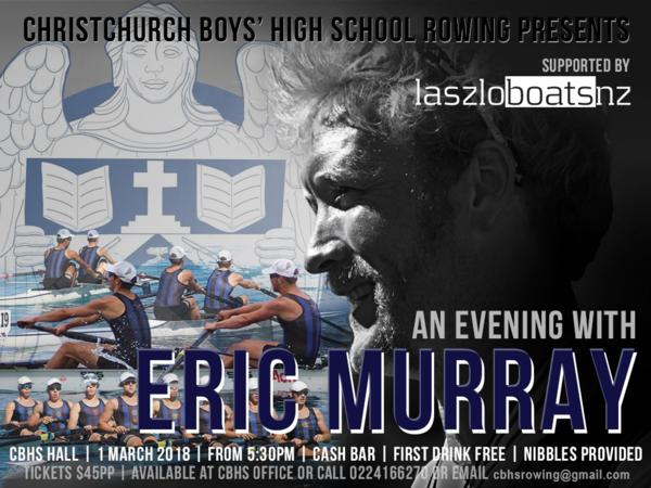 Flyer for the Eric Murray Fundraising Event