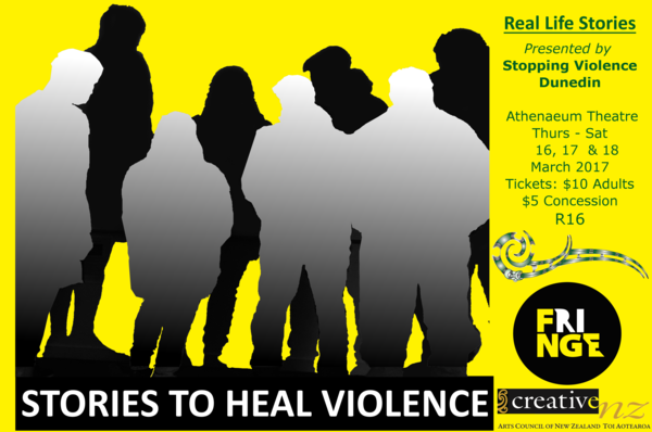 Stories to Heal Violence official poster for Fringe Festival 2017