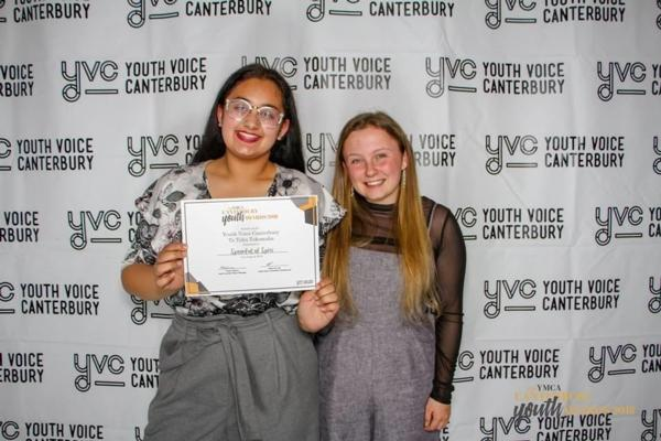 Tulsi and Lucy at the Youth Awards