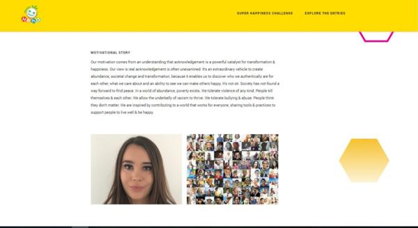 Screen Shot of the Competition Website - Luminary Legacies