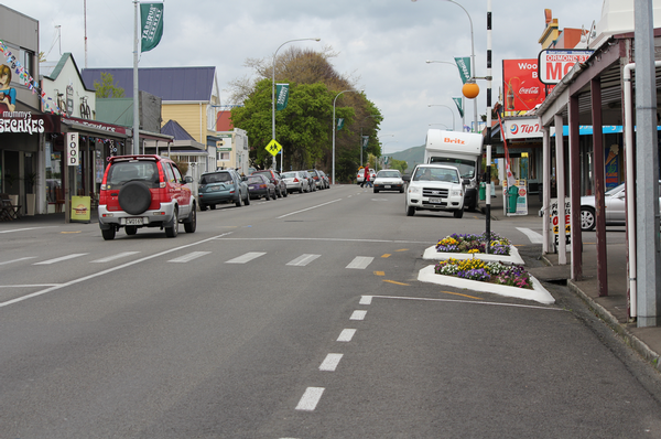 Businesses noticed a marked difference since the chicanes went up.