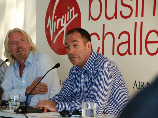 Left to Right, Sir Richard Branson, BNZ CEO Andrew Thorburn