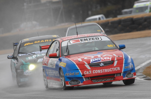 Ross said his car was 'quick out of the box' for the first round of the new year at Teretonga Park Invercargill.