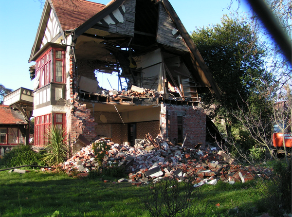 The same Papanui house after the June 13 earthquakes.