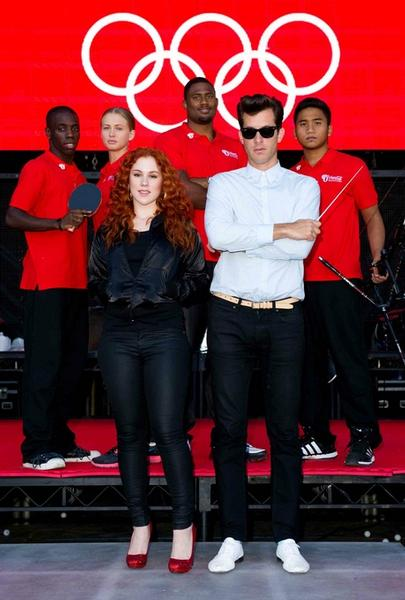 Mark Ronson + Katy B with the Olympians featured on the Anywhere in the World track.