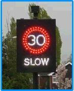 Speed warning sign