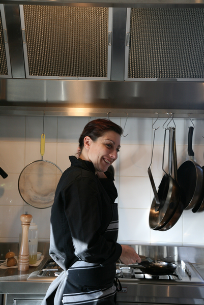 Executive Chef Tiffany Firth in the kitchen at Tiritiri Lodge.