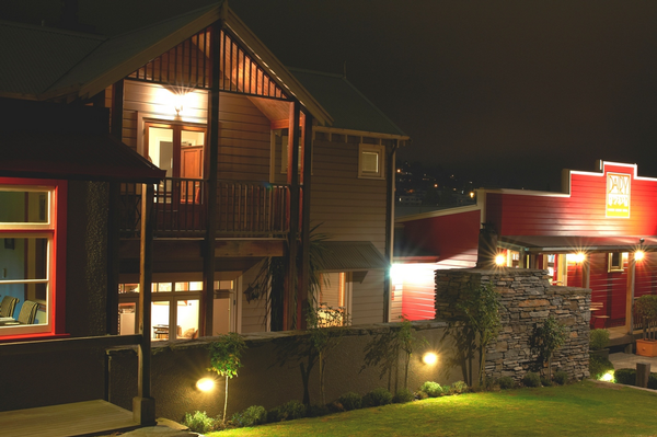 The Dairy, Private Hotel Queenstown at night