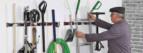 Get your garage organised with New Zealand's leading provider of space saving storage systems, tool hooks and tool holders, Bruns.