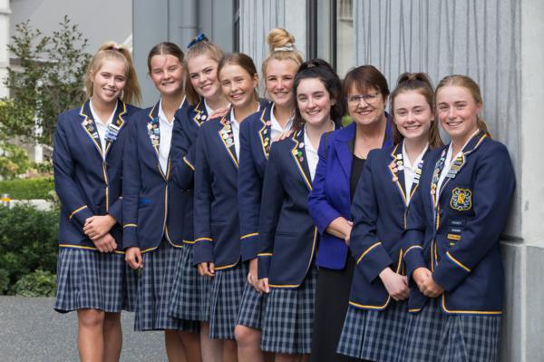 2019 Student Leader Team with Principal Dr Sandra Hastie