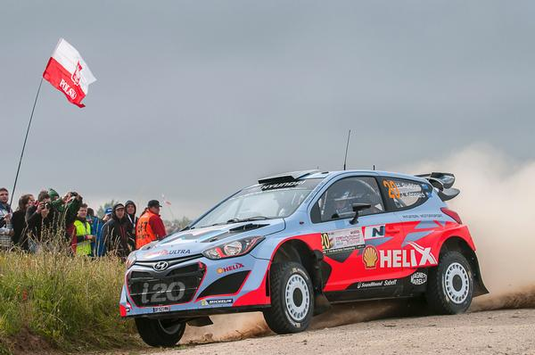 The New Zealand crew of Hayden Paddon and John Kennard have started strongly in their first attempt at Lotos Rally Poland, joining their Hyundai Motorsport teammates in the top seven overall after the event's first day of competition.