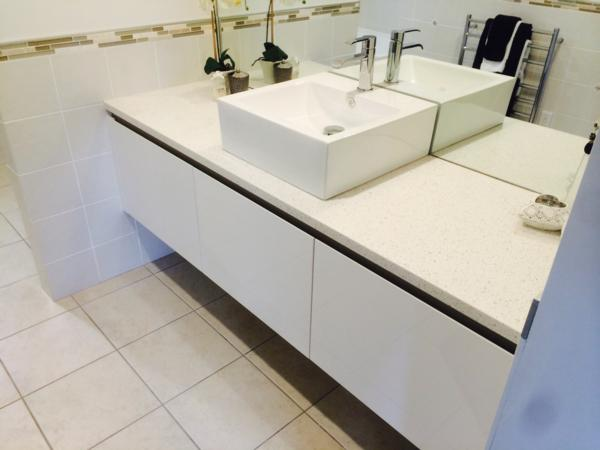 Bathroom Vanity, part of a full bathroom renovation carried out by Superior Renovations