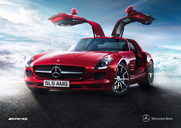 Mercedes benz sls amg gullwing lands in nz for Mercedes benz poster