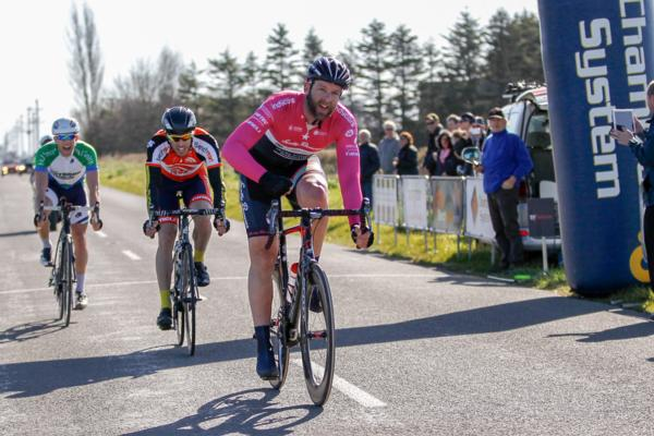 Jason Allen (Scotty Brown Racing) wins the fourth round of the Benchmark Homes Elite Cycling series near Ashburton.