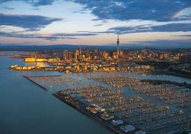Auckland, City of Sails and the Westhaven Marina.