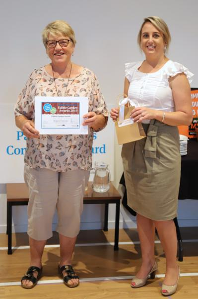 'First Time Entrant' Award winner, Margaret Patterson, with Ray White's Vanessa Golightly