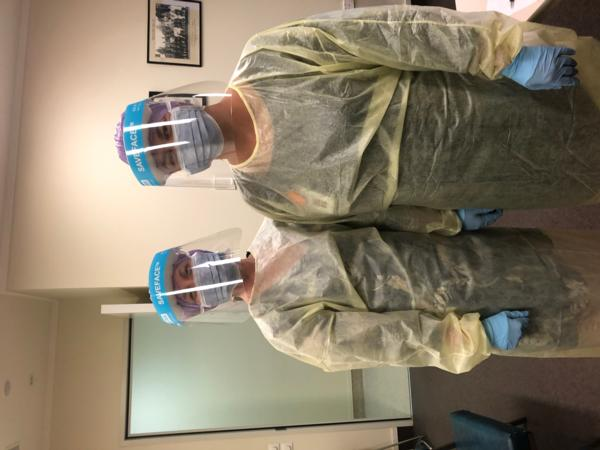 LtoR_In PPE: Jules Arthur Director of Midwifery and Shannon Bradshaw Acting Director of Midwifery Hawkes Bay DHB