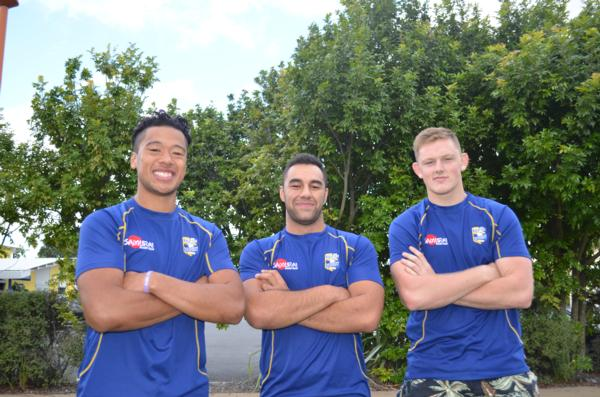 Bay Rugby scholarship recipients: Masiu Vainikolo, Jessie Williams and Brad Armstrong