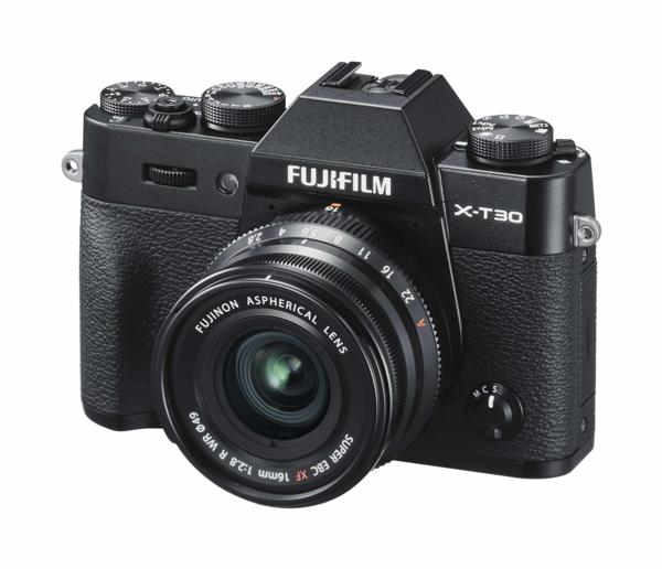 FUJIFILM X-T30 in Black (body only) - Indicative price, $1,649 and FUJINON XF16mmF2.8 - Indicative price, $699
