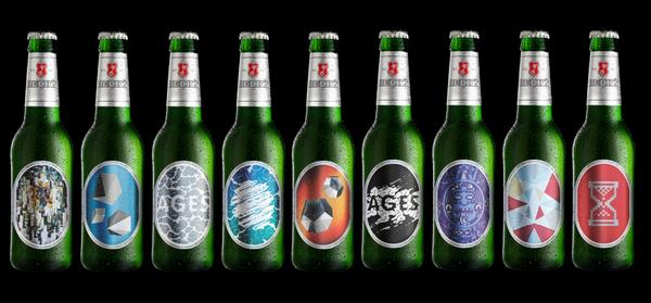 Beck's art labels found on a limited-edition range of Beck's bottles.
