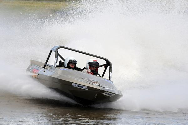 Surprise winner in the Jetpro Lites category was Brett Thompson, setting fastest time at today's fourth round of the Jetpro Jetsprint championship held near Featherston.