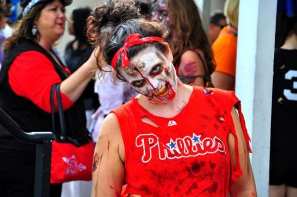 A Florida Zombie From Their 2016 Thrill the World Dance