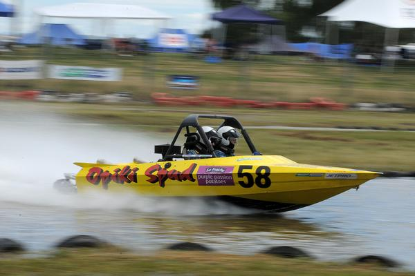 The most competitive category in this year's 2011 Jetpro Jetsprint Championship is the Scott Waterjet Group A field led by Opiki's Simon Campbell, who has a three point lead heading in to this weekend's third round at Meremere