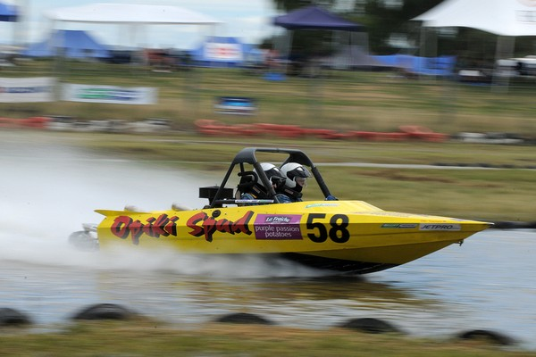 Winning the Scott Waterjet Group A category and setting fastest time overall for today's second round of the 2011 Jetpro Jetsprint Championship held near Gisborne has given Palmerston North's Simon Campbell and navigator Gareth Cox a greater lead in the t