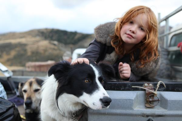 Chrissie Fernyhough is a contributing author in the book and this is her granddaughter and dog