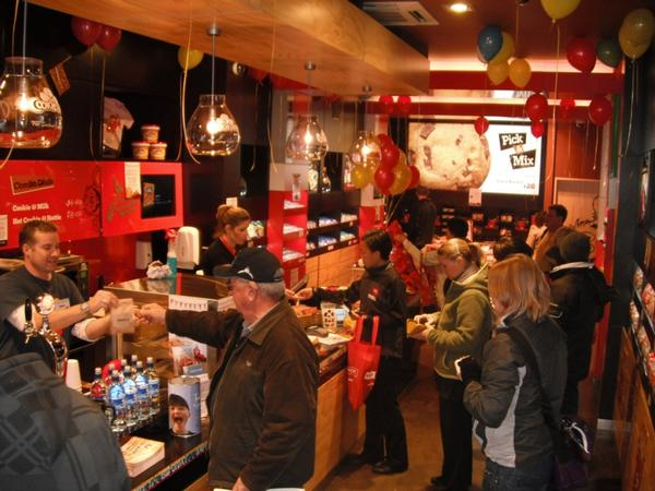 Cookie bar celebrates first birthday with 850 000 cookies for Bar food queenstown