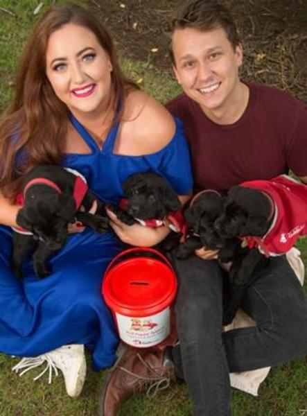 Megan Annear and Guy Mansell 2017 Blind Foundation Red Puppy Appeal Ambassadors