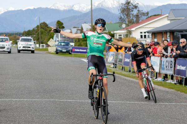 1.	Bailey O'Donnell (Team Škoda Racing) beats Michael Vink (Mike Greer Homes Racing) to win Saturdays 162 kilometre CYB Construction Hokitika Classic elite mens race in 3 hours 53 minutes