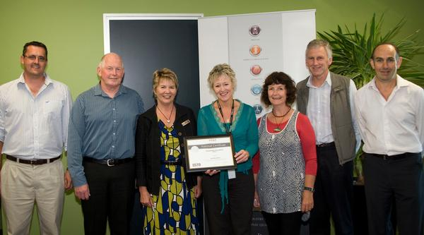 Sue Winter receiving the first National Certificate in Composting