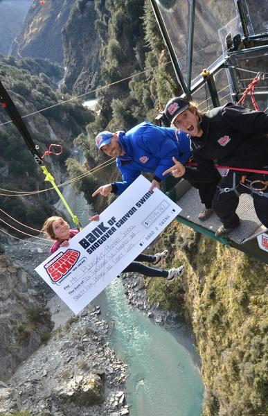 Shotover Canyon Swing Fundraises For Christchurch School
