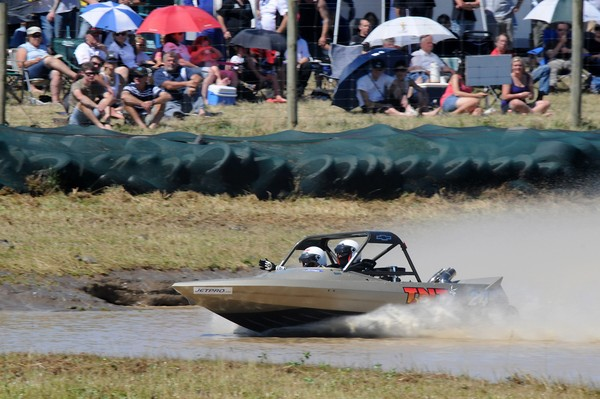 Of the three classes in the 2010 Jetpro Jetsprint Championship, Auckland's Baden Gray  and navigator Tanya Iremonger, in the Scott Waterjet Group A category, are the only team to be placed in of current title champions ahead of this weekend's season final