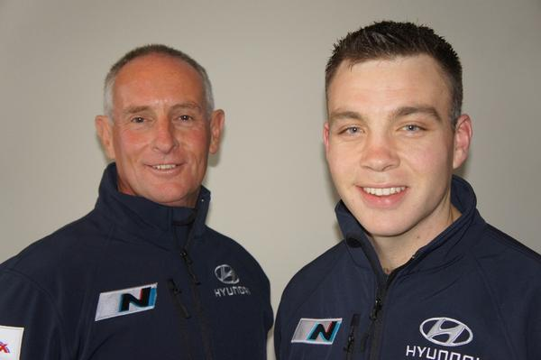 Hayden Paddon (right) and John Kennard (left) join Hyundai Motorsport in the World Rally Championship, the first Kiwis to have a professional contract at this level of world rallying.
