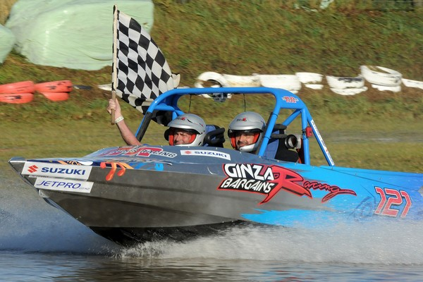 Rotary engine power elevated Wanganui's Peter and Gary Huijs to the top of the Suzuki super boat podium and overall standings in today's second round of the 2011 Jetpro Jetsprint Championship held near Gisborne