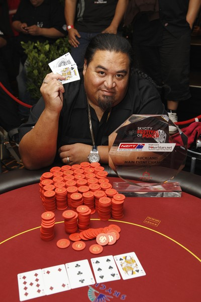 010 SKYCITY Festival of Poker Champion Danny 'Brotha D' Leaoasavaii; Danny in action earlier in the day