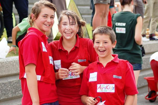 The Karetu kids happy with their win after the AgriKidsNZ Race-off.