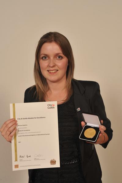 Melissa Haakma, achieved the best result internationally for the City & Guilds Advanced Diploma in International Tourism