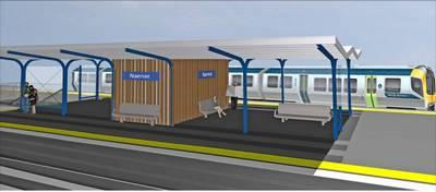 An artist's impression of the new-look Naenae Station.