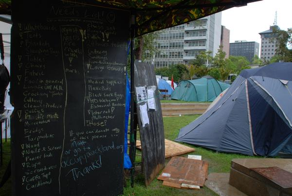 Occupy Auckland's Needs list