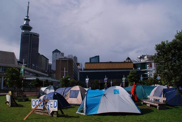 Occupy Auckland in Aotea Square