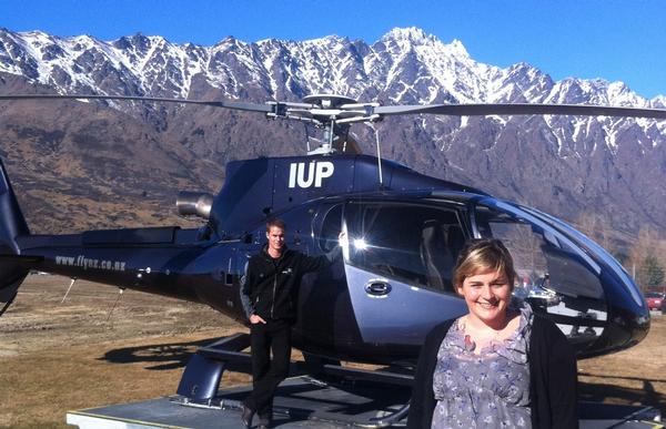 Over The Top pilot Michael Clarke and Olivia Porter from Remarkables Market