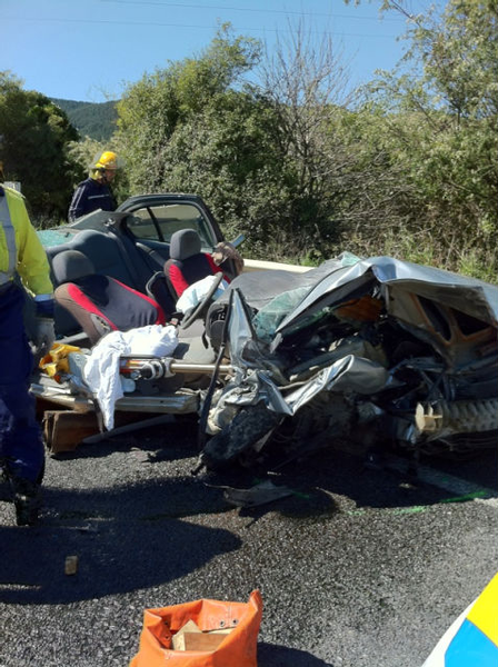 This picture, taken by Dr Chris Lane, who attended the accident, shows the aftermath of the latest fatality on this notorious stretch of State Highway 1.