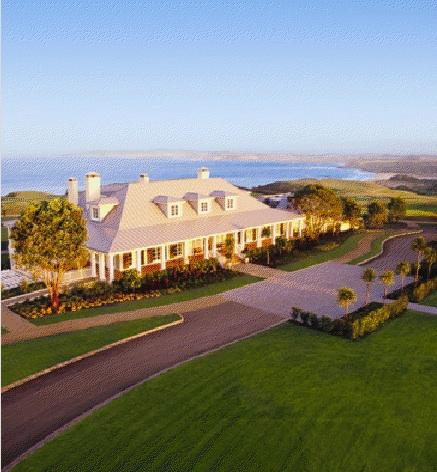 The Lodge at Kauri Cliffs near the Bay of Islands