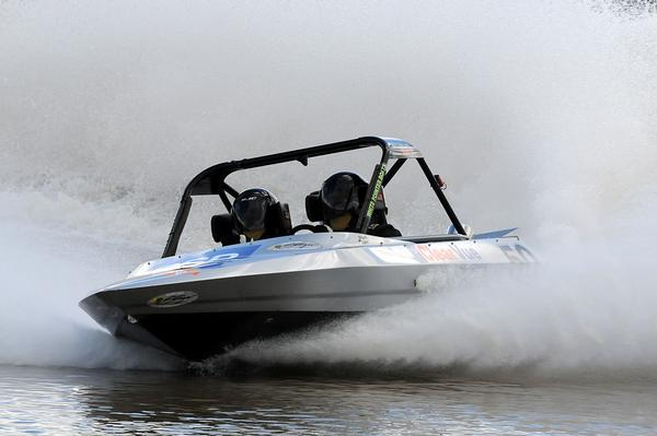 New leader in the Whitepointer Boats Group A category, Hamilton's Sam Newdick took his second successive victory after today's fourth round of the Jetpro Jetsprint championship contested near Featherston got rained out.
