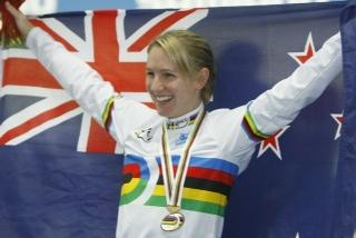 Alison Shanks after her first UCI World Championship in 2009.