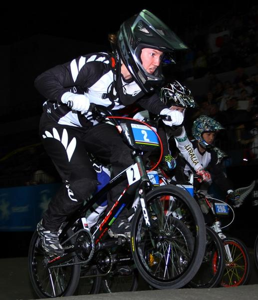 Tahlia Hansen, New Zealand double medallist at the UCI BMX World Championships.