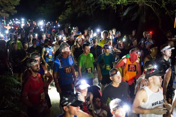 Runners assembed at the start of the 2013 Vibram Tarawera Ultramarathon.